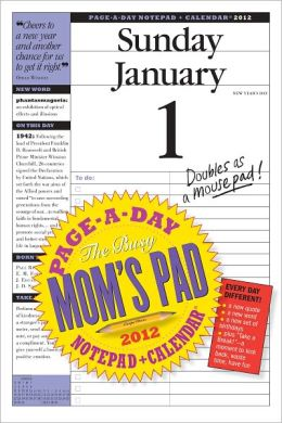 2012 The Busy Mom's Pad Page-A-Day Notepad + Calendar