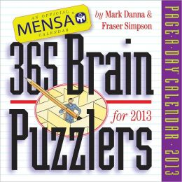 2013 Mensa 365 Brain Puzzlers Page-A-Day Calendar
