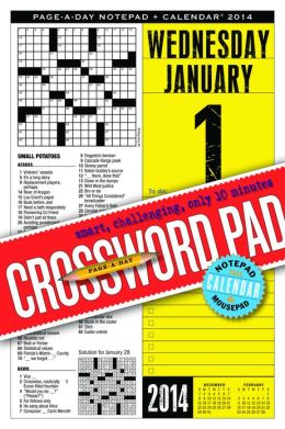 2014 Crossowrds Page-A-Day Notepad Calendar