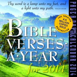 2014 365 Bible Verses-A-Year Page-A-Day Calendar