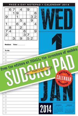 2014 Sudoku Page-A-Day Notepad Calendar