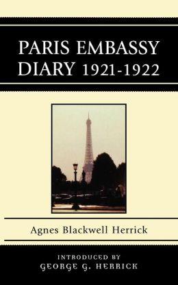 Paris Embassy Diary 1921-1922