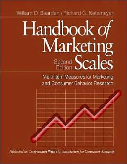 Handbook of Marketing Scales: Multi-Item Measures for Marketing and Consumer Behavior Research