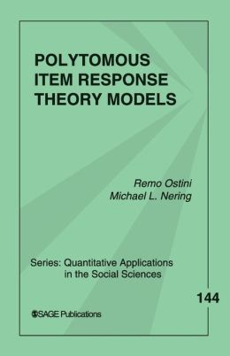 Polytomous Item Response Theory Models