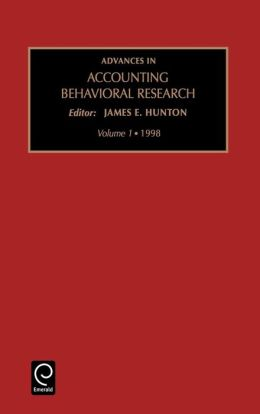 Advances in Accounting Behavioral Research: Vol 1