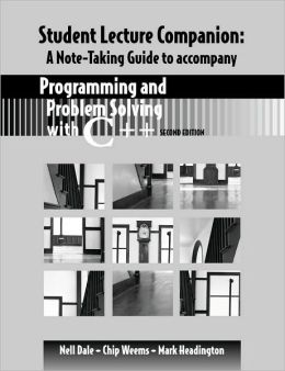 Student Note Taking Programming and Problem Solving C++