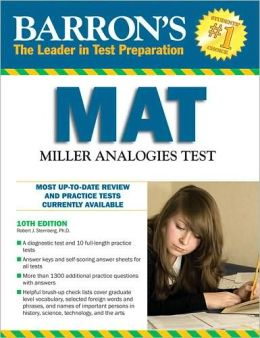 Barrons MAT Miller Analogies Test