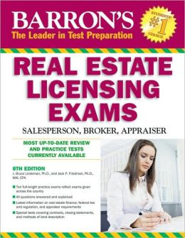 Barron's Real Estate Licensing Exams: Salesperson, Broker, Appraiser