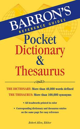 Barron's Reference Guides: Pocket Dictionary & Thesaurus