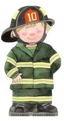 Firefighter (Mini People Shape Books Series)