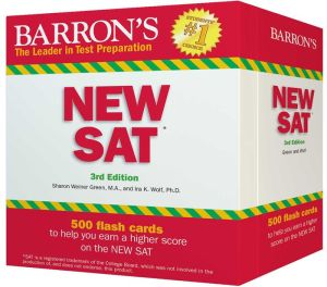 Barron's New SAT Flash Cards, 3rd Edition: 500 Flash Cards to Help You Achieve a Higher Score