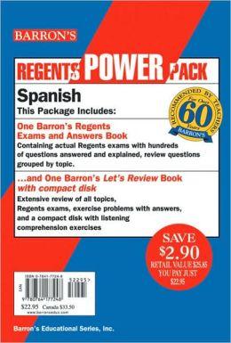 Barrons Regents Power Pack Spanish