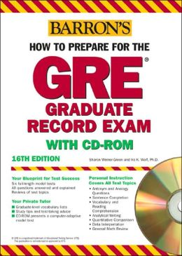 How to Prepare for the GRE Test, with CD-ROM