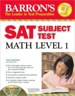 Barron's SAT Subject Test Math Level 1 w/CD