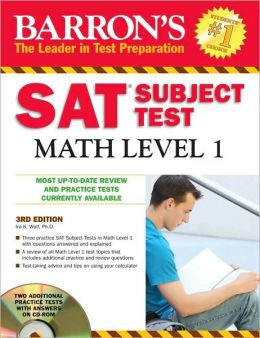 Barron's SAT Subject Test Math Level 1 with CD-ROM