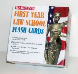 Barron's First Year Law School Flash Cards: 350 Cards with Questions & Answers