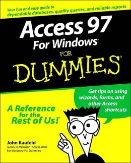 Access for Windows 97 for Dummies