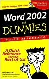 Word 2002 for Dummies Quick Reference