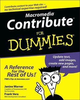 Macromedia Contribute for Dummies