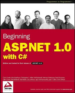 Beginning ASP.NET 1.0 with C#
