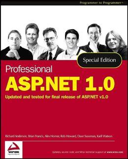 Professional ASP.NET 1.0