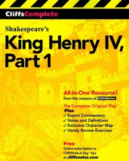 CliffsComplete King Henry IV, Part 1
