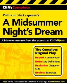 CliffsComplete A Midsummer Night's Dream
