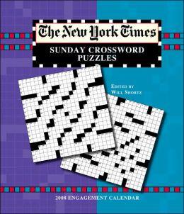 2008 New York Times Sunday Crossword Puzzles Engagement Calendar