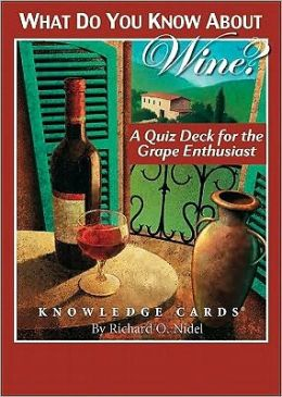 Knowledge Card Deck What Do You Know Wine