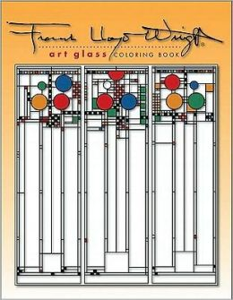 Frank Lloyd Wright: Art Glass Coloring Book
