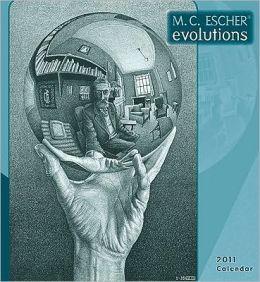 2011 Escher Evolution Wall Calendar