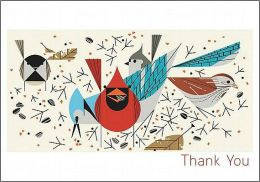 Charley Harper Thank You Notes with 10 Envelopes