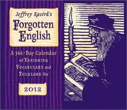 2012 Forgotten English Page-A-Day Calendar