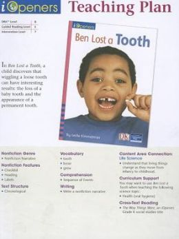 Iopeners Ben Lost A Tooth Teaching Plan Grade K 2005C