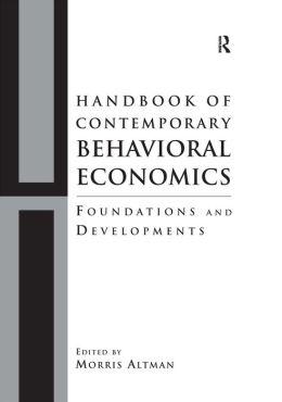 Handbook of Contemporary Behavioral Economics