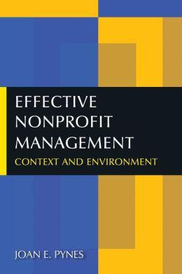 Effective Nonprofit Management