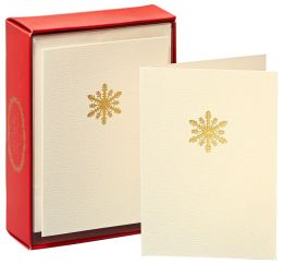Snowflake Gold La Petite Press Christmas Boxed Card