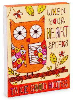 Owl When Your Heart Speaks Note Pad