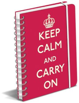 Keep Calm And Carry On Red Polypro Lined Spiral Journal 6.5 x 8.5