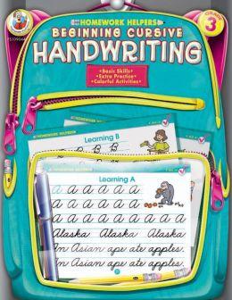 Beginning Cursive Handwriting