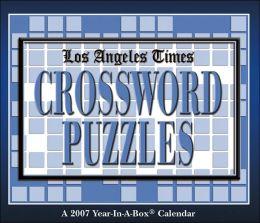 2007 LA Times Crossword Puzzles Box Calendar