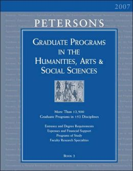 Graduate Programs in the Humanities, Arts and Social Sciences 2007