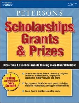 Scholarships, Grants and Prizes 2007