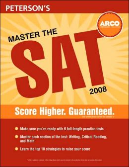 Peterson's Master the SAT 2008