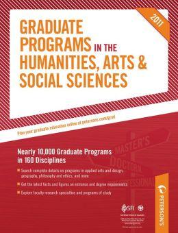Graduate Programs in the Humanities, Arts & Social Sciences 2011 (Grad 2)