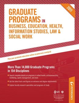 Peterson's Graduate Programs in the Medical Professions and Sciences 2011: Sections 34-40 of 44
