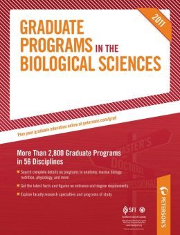Peterson's Graduate Programs in Genetics, Developmental Biology, & Reproductive Biology; Marine Biology; and Microbiological Sciences: Sections 10-12 of 19