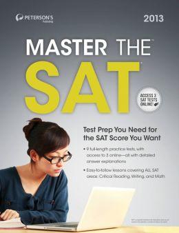 Master the SAT: Practice Test 2: Prac Tes 2 of 6