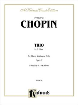 Piano Trio in G Minor, Op. 8: Piano, Violin, & Cello
