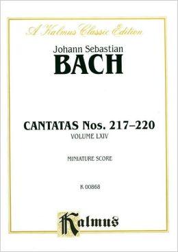 Cantatas No. 217-220: Miniature Score (German Language Edition), Miniature Score